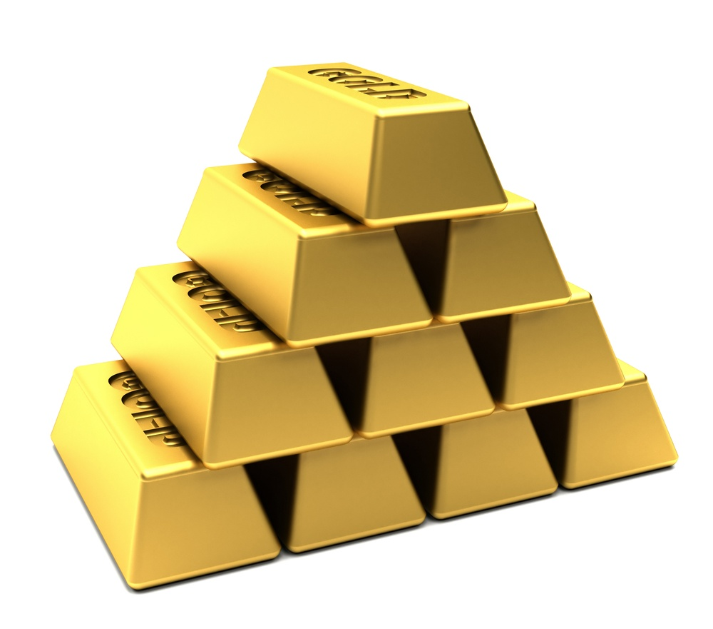 Pile of gold bars stacked in a pyramid isolated over white.jpeg